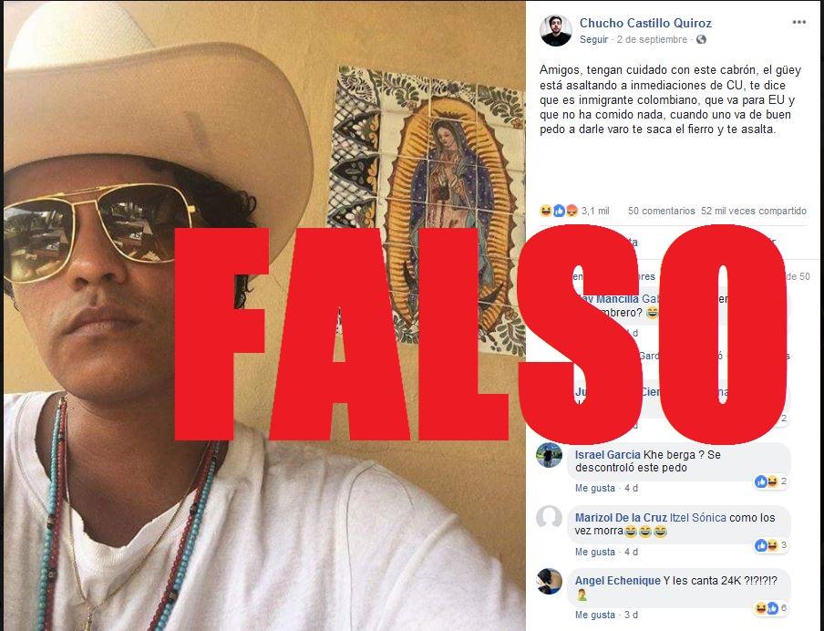 Captura de pantalla de un perfil en Facebook hecha el 11 de septiembre de 2018