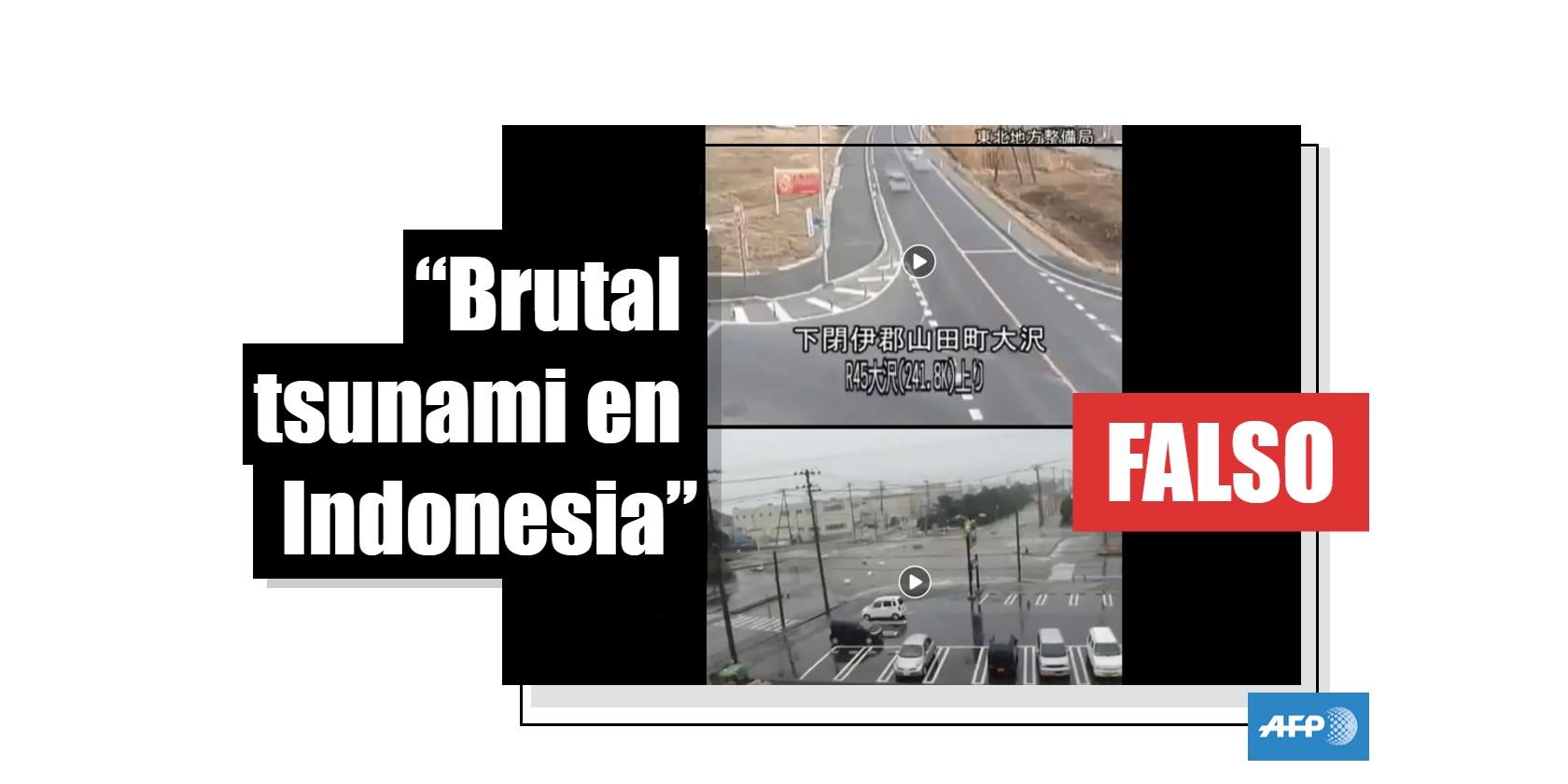 Captura de pantalla en Facebook el 12 de octubre de 2018 de dos videos virales