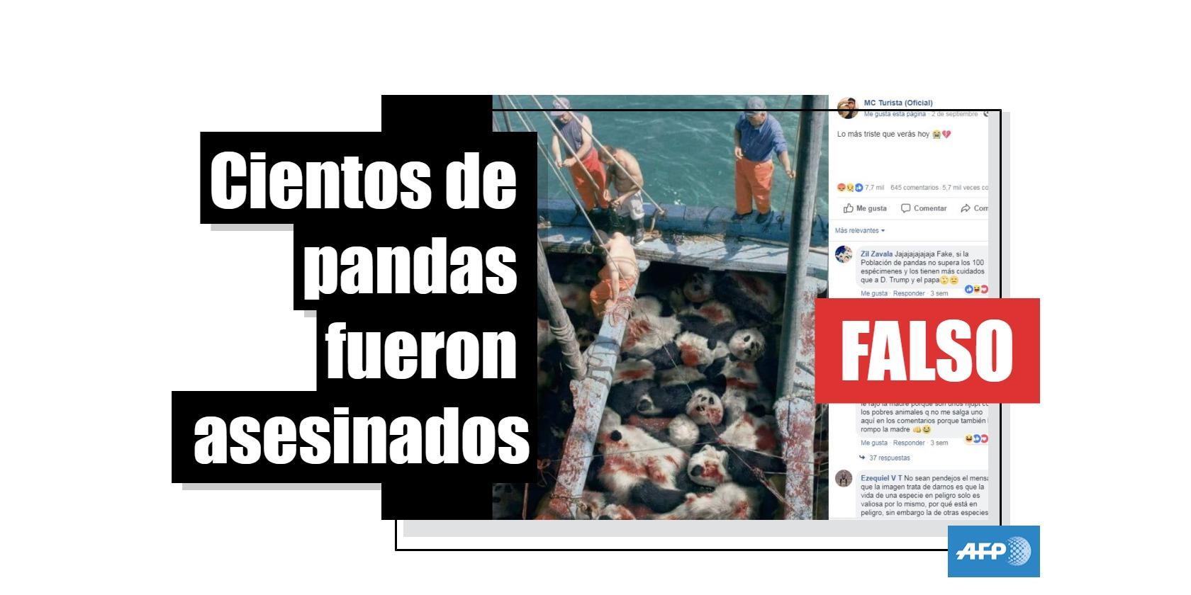 Captura de pantalla del 26 de septiembre de la publicación en Facebook que se hizo viral