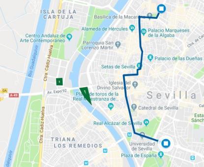Zona Azul Sevilla Mapa.Esta Imagen No Se Tomo Cerca Del Recorrido De La