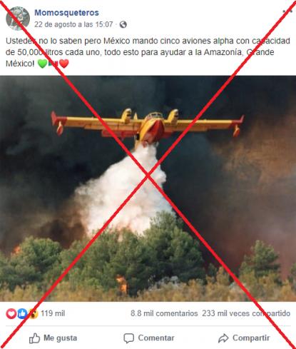 No México No Envió Cinco Aviones Para Combatir Los