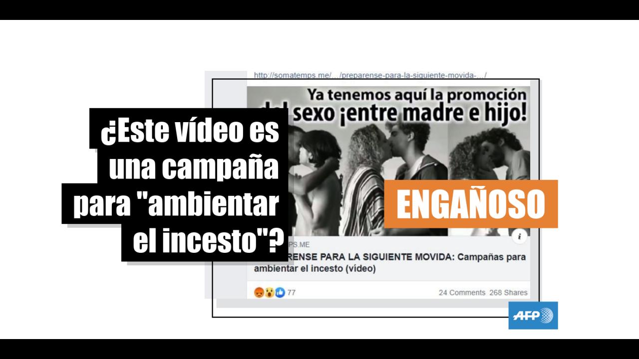 Pagina Porno De Incesto el vídeo de madres e hijos besándose está sacado de contexto