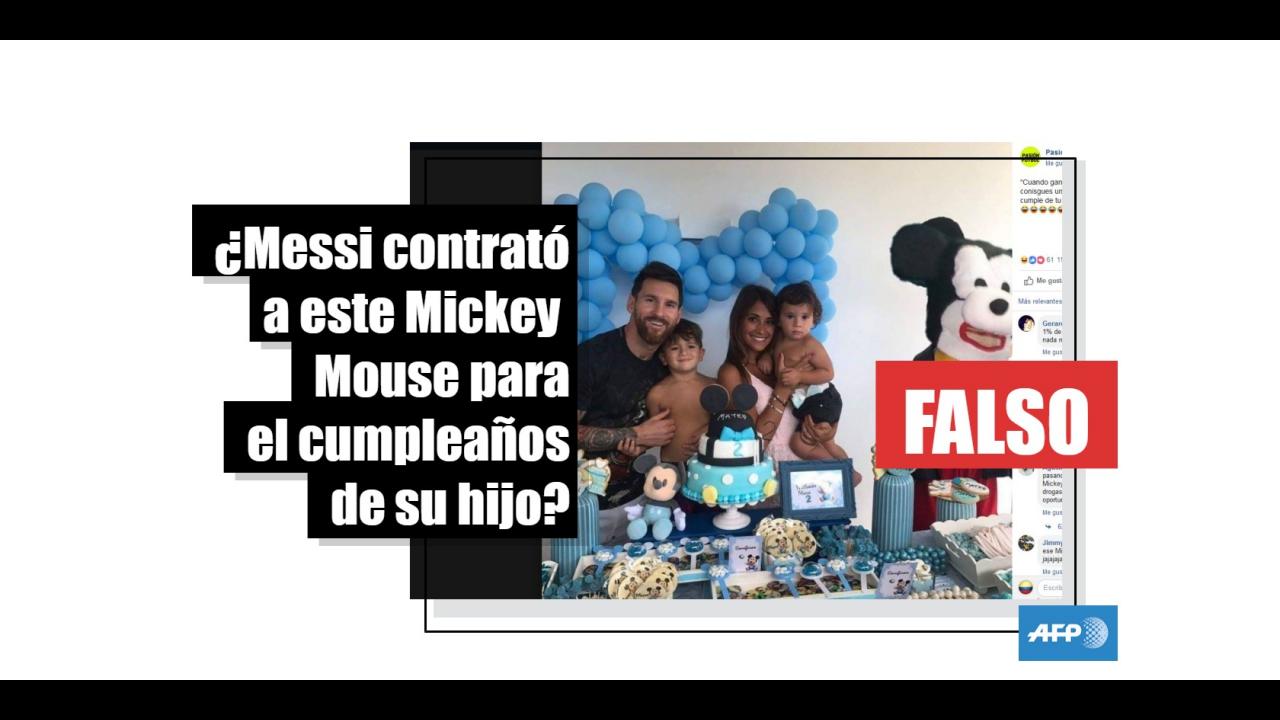 No Messi No Contrato Este Mickey Mouse Para El Cumpleanos De Su
